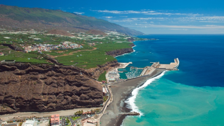 View of the coast in the Canary Islands