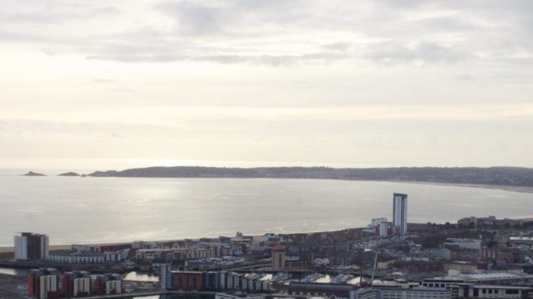 Swansea view of the sea